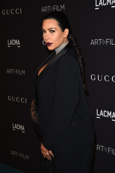 LACMA 2015 Art+Film Gala Honoring James Turrell and Alejandro G Inarritu, Presented by Gucci - Red Carpet [fashion,formal wear,dress,suit,outerwear,black hair,fashion design,style,premiere,james turrell,kim kardashian,alejandro g inarritu,lacma,california,los angeles,gucci,red carpet,lacma 2015 art film gala]