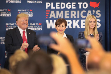 Kim Reynolds Trump Attends Workforce Development Roundtable In Iowa