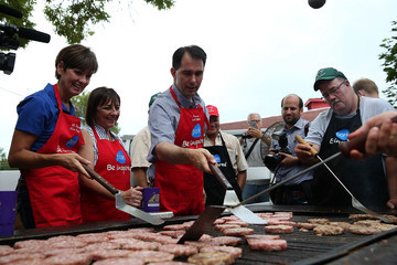 Kim Reynolds Presidential Candidates Stump at Iowa State Fair