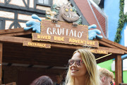 Kimberley Walsh visits Chessington World of Adventures new 'Gruffalo River Ride Adventure' at Chessington World Of Adventures Resort on August 3, 2017 in Chessington, England.