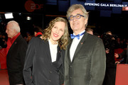 """Donata Wenders and Wim Wenders attend the """"The Kindness Of Strangers"""" premiere during the 69th Berlinale International Film Festival Berlin at Berlinale Palace on February 07, 2019 in Berlin, Germany."""