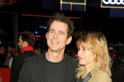 """Tom Tykwer (L) and his wife Marie Steinmann attend the """"The Kindness Of Strangers"""" premiere during the 69th Berlinale International Film Festival Berlin at Berlinale Palace on February 07, 2019 in Berlin, Germany."""
