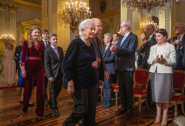 Belgian Royal Family Attends Christmas Concert At Royal Palace In Brussels [event,tourism,art,paola,elisabeth,albert ii,emmanuel,brussels,belgium,royal palace,belgian royal family attends christmas concert at royal palace,christmas concert]