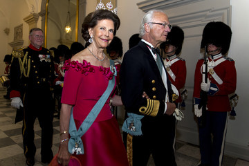 King Carl Gustaf Crown Prince Frederik Of Denmark Holds Gala Banquet At Christiansborg Palace