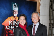 """Actors Lea Salonga and George Takai attend the Broadway Opening Night of """"King Charles III"""" at the Music Box Theatre on November 1, 2015 in New York City."""