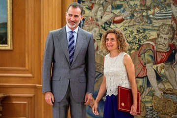 King Felipe VI King Felipe VI Of Spain Receives Meritxell Batet
