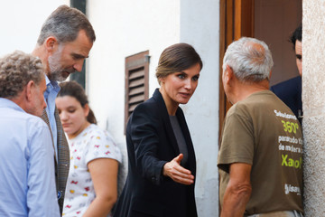King Felipe VI Spanish Royals Visit Villages Affected By Floods in Mallorca