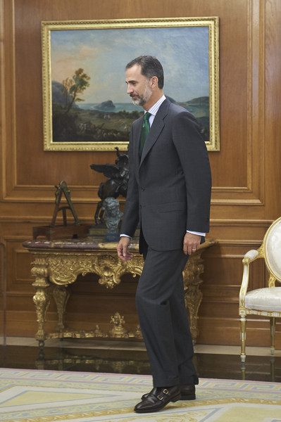 King Felipe VI of Spain Attends Several Audiences