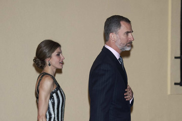King Felipe VI of Spain Argentina's President and His Wife Host a Reception for Spanish Royals