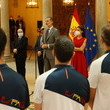 King Felipe VI of Spain Spanish Royals Receive Athletes Before Their Trip To The Olympic Games Tokyo 2021