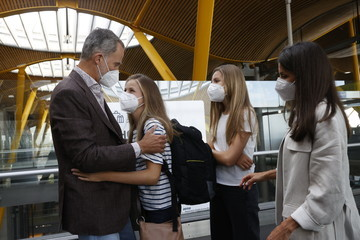 King Felipe VI of Spain Princess Leonr Of Spain Travels To Wales For The School Year At UWC Atlantic College