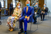 King Philippe of Belgium and Queen Mathilde visit the Antwerp Tropical Institute of Medicine to inquire about the impact of the COVID-19 coronavirus on African developing countries, on June 23, 2020 in Antwerp, Belgium. The tropical Institute is an important partner in the fight against coronavirus. Through its specialized medical services, teaching, training and scientific research, the TIM contributes to the development of sustainable solutions, both in Belgium and internationally.