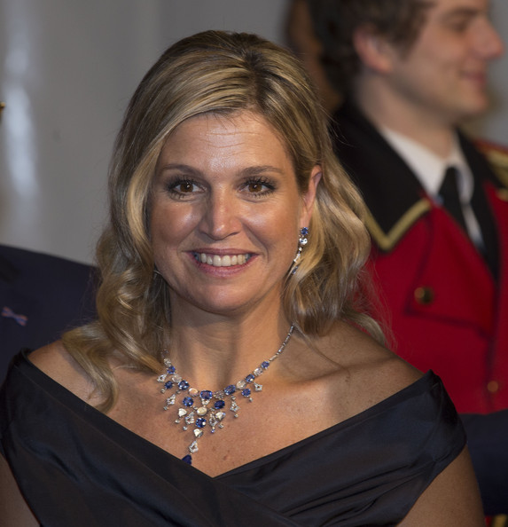 Queen Maxima of The Netherlands leaves the Circus Theatre after celebrations marking the 200th anniversary of the Kingdom of The Netherlands  on November 30, 2013 in The Hague, Netherlands.