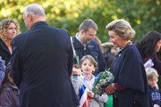 King Harald V of Norway and Queen Sonja of Norway wait for King Willem-Alexander of The Netherlands and Queen Maxima of The Netherlands during their official visit to Oslo on October 2, 2013 in Oslo, Norway.
