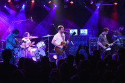 (L-R) Matthew Followill, Nathan Followill,  Caleb Followill, and Jared Followill of Kings Of Leon perform onstage in a private concert for SiriusXM at (Le) Poisson Rouge; performance Airs live on SiriusXM's Alt Nation Channel on October 12, 2016 in New York City.