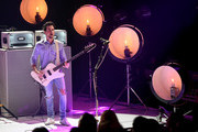 Jared Followill of Kings Of Leon performs on stage on AT&T at iHeartRadio Theater LA on January 30, 2017 in Burbank, California.