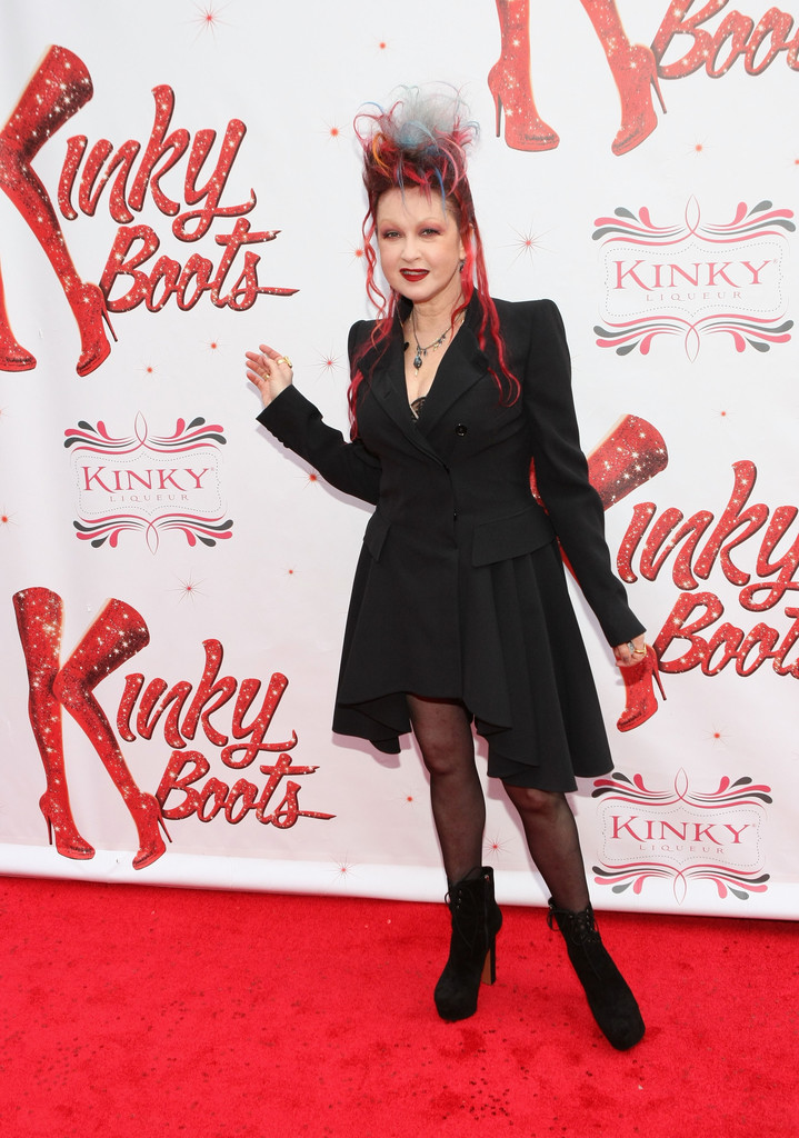 Cyndi lauper in media opening for 39 kinky boots 39 3 zimbio for Kinky boots cyndi lauper