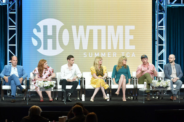 2019 Summer Television Critics Association Press Tour - Day 11 [summer tca press,l-r,event,performance,stage,talent show,music,performing arts,stage equipment,concert,beth ditto,mel rodriguez,matt lutsky of on becoming,robert funke,kirsten dunst,theodore pellerin,esta spalding,god]