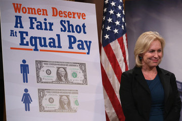 Kirsten Gillibrand Senate Democrats Hold Address The Media After Vote On Paycheck Fairness Act