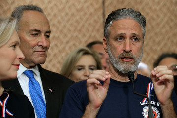 Kirsten Gillibrand Jon Stewart Appears on Capitol Hill to Support the James Zadroga 9/11 Health and Compensation Reauthorization Act