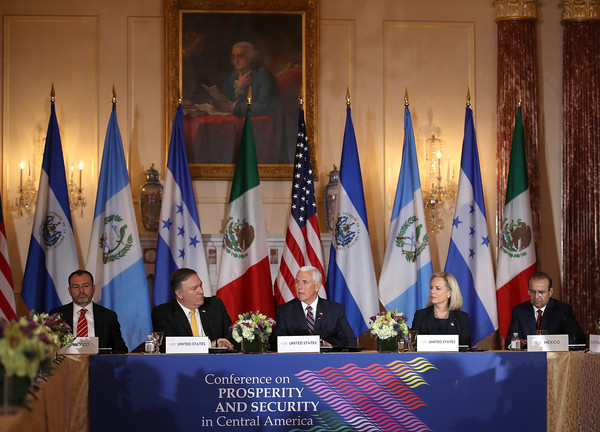 Pompeo, Pence, And Nielsen Hold Security Conference With Central American Leaders