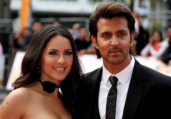 Hrithik Roshan Actress Barbara Mori and Actor Hrithik Roshan attends the European Premiere of 'Kites' at Odeon West End on May 18, 2010 in London, England.