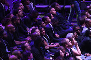 Kyrie Irving, Draymond Green, Steph Curry and AC Green attend The Celebration of Life for Kobe & Gianna Bryant at Staples Center on February 24, 2020 in Los Angeles, California.