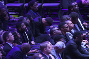 Kyrie Irving, Draymond Green, Stephen Curry, AC Green, Dwyane Wade and Russell Westbrook attend The Celebration of Life for Kobe & Gianna Bryant at Staples Center on February 24, 2020 in Los Angeles, California.