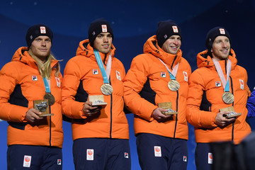 Koen Verweij Medal Ceremony - Winter Olympics Day 13