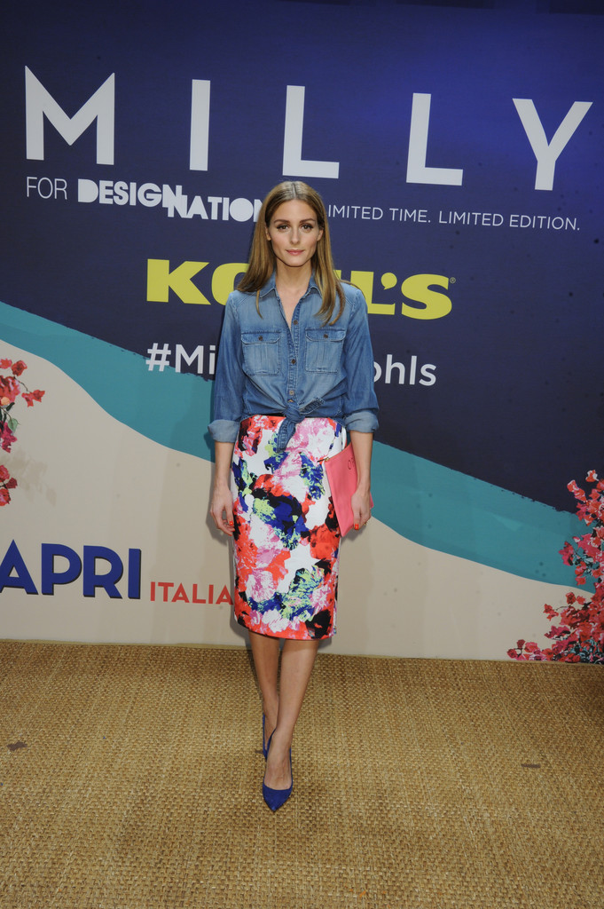 Milly for DesigNation Abstract Floral Midi Scuba Skirt, $50, at Kohl's