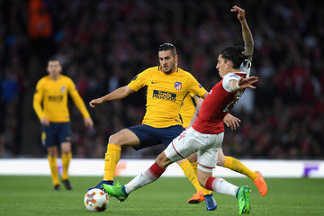 Koke Arsenal FC v Atletico Madrid - UEFA Europa League Semi Final Leg One