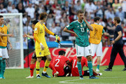 Thomas Mueller of Germany looks dejected after the 2018 FIFA World Cup Russia group F match between Korea Republic and Germany at Kazan Arena on June 27, 2018 in Kazan, Russia.