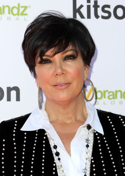 "Kris Jenner Kris Jenner arrives at the Launch of The ""Kardashian Glam"" Pack Of Silly Bandzon February 4, 2011 in Los Angeles, California."