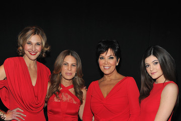 Kris Jenner Kylie Jenner The Heart Truth 2013 Fashion Show - Backstage