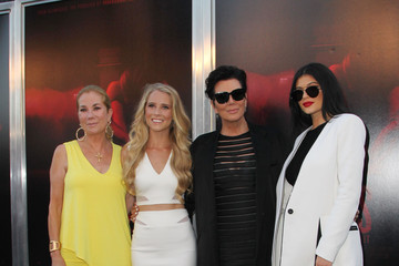 Kris Jenner Kylie Jenner Celebrities Pose at the Premiere of New Line Cinema's 'The Gallows' Red Carpet
