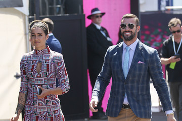 Kris Smith Celebrities Attend Stakes Day