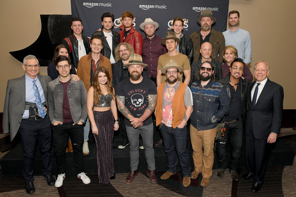 Amazon Music Presents: Country Heat At CRS [social group,event,team,rj curtis,caleb miller,simon dumas,king calaway,l-r,back row,crs,amazon music,zac brown band,amazon music presents: country heat]