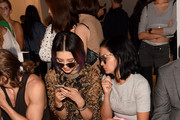 Irene Kim (L) and Leigh Lezark attend the Kye fashion show during Spring 2016 New York Fashion Week: The Shows at The Space, Skylight at Clarkson Sq on September 11, 2015 in New York City.