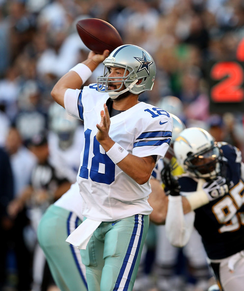 San Diego Chargers Backup Quarterback: Dallas Cowboys V San Diego Chargers