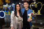 Kyle Richards (L) and guest attend the Kendra Gives Back event at Kendra Scott on February 12, 2020 in Century City, California.