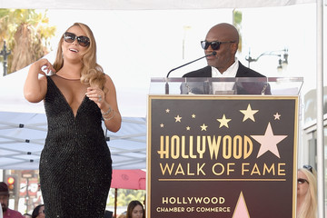 L.A. Reid Mariah Carey Honored With Star on the Hollywood Walk of Fame