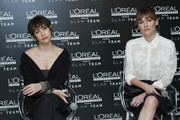 Actresses Greta Fernandez (L) and Marta Nieto (R) attend L'Oreal Professionnel presentation at Ramses on January 16, 2020 in Madrid, Spain.