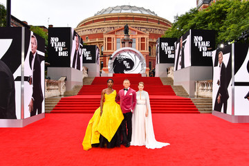 """Léa Seydoux World Premiere Of """"NO TIME TO DIE"""" - Red Carpet"""