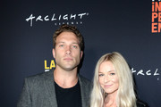 Jai Courtney and Mecki Dent attend LA Film Festival World Premiere Gala Screening Of THE OATH on September 25, 2018 in Los Angeles, California.