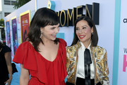 Ginnifer Goodwin (L) and Lucy Liu arrive at the premiere of CBS All Access' 'Why Women Kill' at the Wallis Annenberg Center for the Performing Arts on August 07, 2019 in Beverly Hills, California.