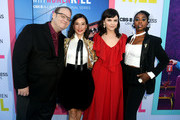(L-R) Marc Cherry, Kirby Howell-Baptiste, Ginnifer Goodwin and Lucy Liu arrive at the premiere of CBS All Access' 'Why Women Kill' at the Wallis Annenberg Center for the Performing Arts on August 07, 2019 in Beverly Hills, California.