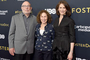 """Director Mark Jonathan Harris, Rhea Perlman, and producer Deborah Oppenheimer attend the LA Premiere Of HBO's """"Foster"""" at Linwood Dunn Theater on April 22, 2019 in Los Angeles, California."""