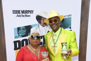 "Luenell and Don ""Magic"" Juan attend the LA Premiere Of Netflix's ""Dolemite Is My Name"" at Regency Village Theatre on September 28, 2019 in Westwood, California."