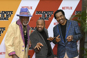 "(L-R) Jimmy Lynch, Mike Epps and Bobby Rush attend the LA premiere of Netflix's ""Dolemite Is My Name"" at Regency Village Theatre on September 28, 2019 in Westwood, California."
