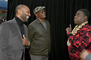 "(L-R) Mike Epps, Samuel L. Jackson and Tracy Morgan attend the LA premiere of Netflix's ""Dolemite Is My Name"" at Regency Village Theatre on September 28, 2019 in Westwood, California."